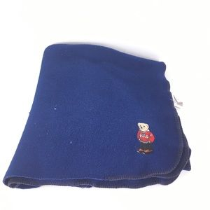 Ralph Lauren vintage bear navy throw blanket